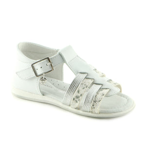 White Leather  sandal (SS-7017) - SIMPLY SHOES HONG KONG
