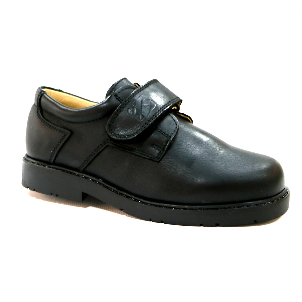 FULL GRAIN LEATHER BLACK BOY SCHOOL SHOES (SS-8018)