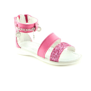 Sparkling Fuxia Leather girls sandal (SS-7044) - SIMPLY SHOES HONG KONG
