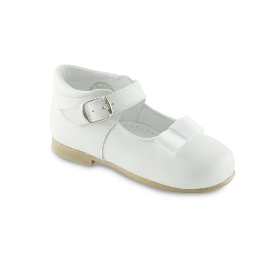 Essential White Leather ballerina shoe (SS-7039) - SIMPLY SHOES HONG KONG