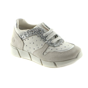 Light Grey Leather girls sneaker (SS-7001)