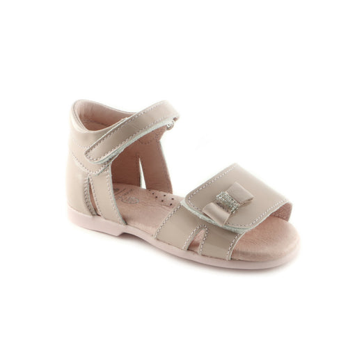 Cheerful Beige Leather Sandal (SS-7030) - SIMPLY SHOES HONG KONG