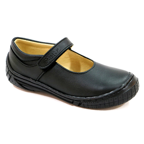 REAL STITCHING AND TOE CAP BLACK LEATHER SHOE (SS-7045) - SIMPLY SHOES HONG KONG
