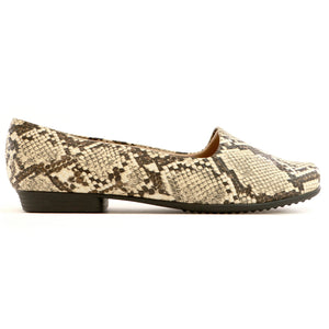 Snake Skin Flat Ladies Shoes (250.132)
