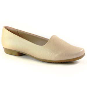 Light Gold Flat Ladies Shoes (250.132) - SIMPLY SHOES HONG KONG