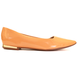 Mustard Patent Flats for Women (274.047)