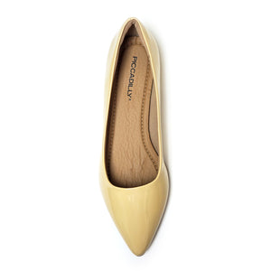 Cream Nappa Flats for Women (274.047) - SIMPLY SHOES HONG KONG