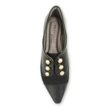 Black Napa with Microfibra and Pearl accessories loafer (278.003)