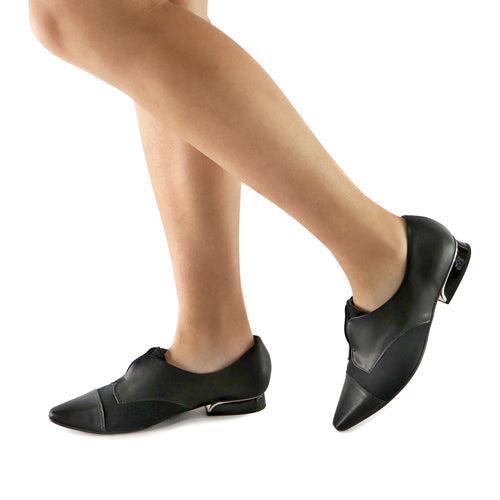 Black Napa/Microfibra Ladies loafer (278.007) - SIMPLY SHOES HONG KONG