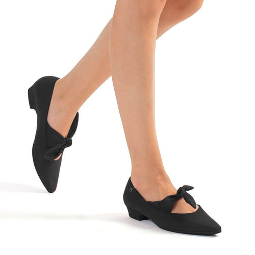 Black Flats for Women (278.016) - SIMPLY SHOES HONG KONG