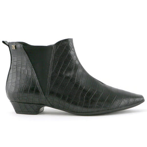 Black Croco Ladies Ankle Boots (278.020) - SIMPLY SHOES HONG KONG