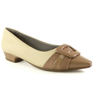 Cream Flats for Women (278.027) - SIMPLY SHOES HONG KONG