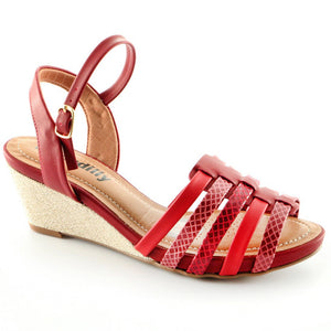 Red Espadrilles Sandals for Women (408.112) - SIMPLY SHOES HONG KONG