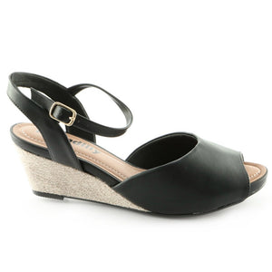 Black Espadrilles Sandals for Women (408.109) - SIMPLY SHOES HONG KONG