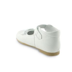 Essential White Leather ballerina shoe (SS-7039)