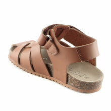 Classic Brown Leather Boys Sandals (SS-8014) - SIMPLY SHOES HONG KONG