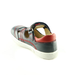 Navy Combo Leather Boys Sandals (SS-8008) - SIMPLY SHOES HONG KONG