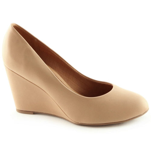 Taupe Pumps for Women (691.001) - SIMPLY SHOES HONG KONG