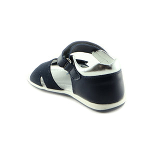Deep Navy Leather Sandals (SS-7026)