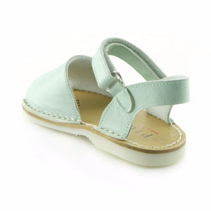 Soothing Green Leather infant girls sandal (SS-7043) - SIMPLY SHOES HONG KONG