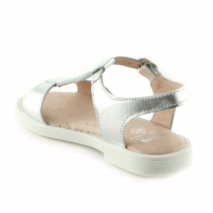 Silver Bling Leather girls sandal (SS-7040)