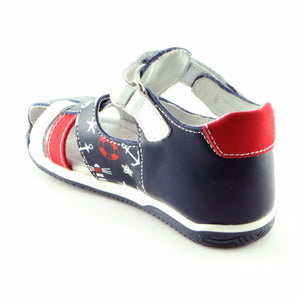 Navy Combo Leather Sandasl (SS-8000) - Simply Shoes Hong Kong