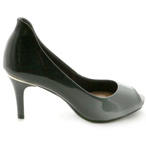 Grey Peep Toe Pumps for Women (362.046) - SIMPLY SHOES HONG KONG