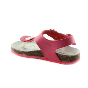 Bright Fuxia Leather Sandal (SS-7007)