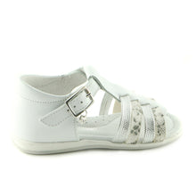 White Leather  sandal (SS-7017)
