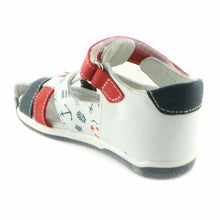 White Combo Leather Sandals (SS-8004)