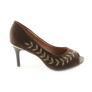 Brown Peep Toe Pumps for Women ( 362.047)