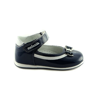 Navy Combo Leather ballerina (SS-7016)