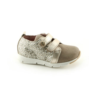 Gold 'n' Tan Leather girls Sneaker (SS-7037)