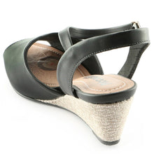 Black Espadrilles Sandals for Women (408.109)