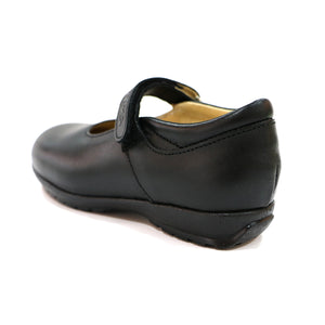 BLACK NAPA LEATHER SCHOOL SHOE (SS-7046)