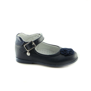 Classic Navy Leather ballerina (SS-7013) - SIMPLY SHOES HONG KONG