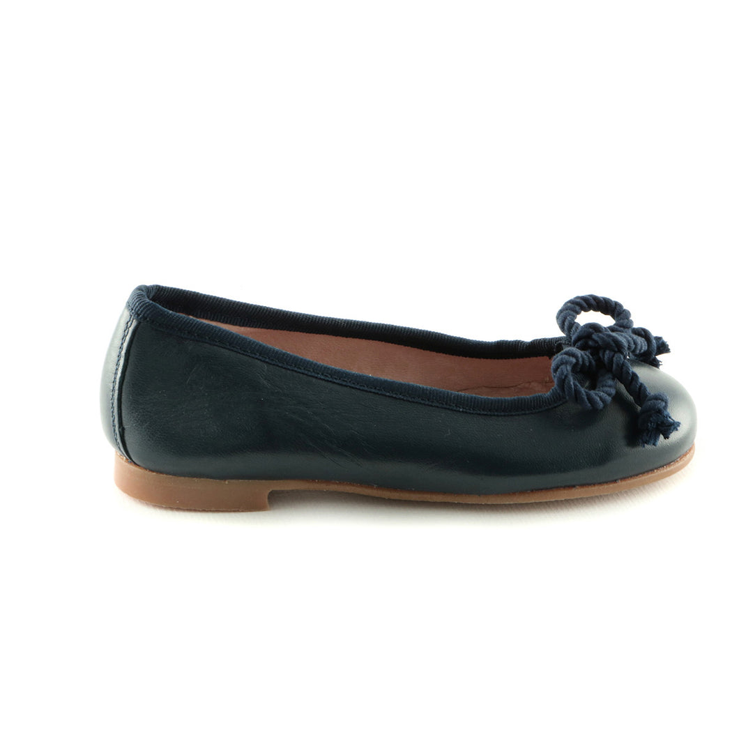Berries Navy Leather girls ballerina (SS-7025) - SIMPLY SHOES HONG KONG