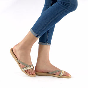 Taupe Sandals for Women (401.158) - SIMPLY SHOES HONG KONG