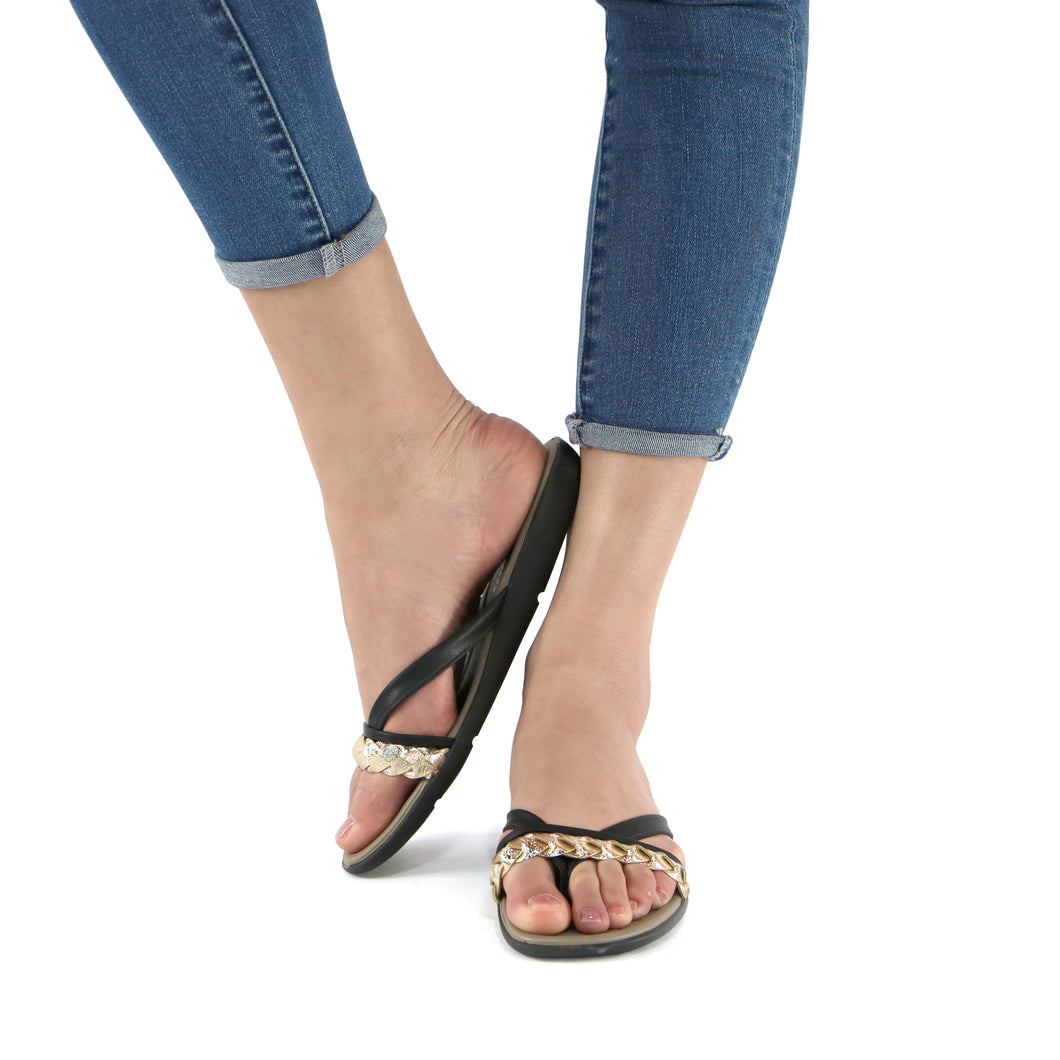 Black Sandals for Women (401.158) - SIMPLY SHOES HONG KONG