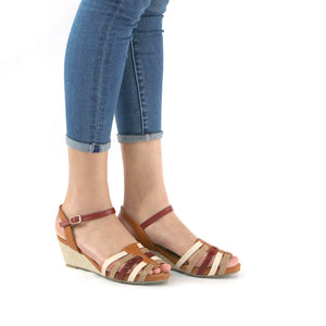 Beige Espradilles Sandals for Women (408.112) - SIMPLY SHOES HONG KONG