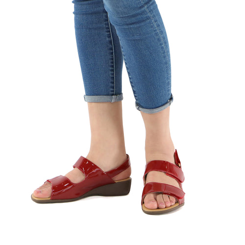 Red Sandals for Women (416.025) - SIMPLY SHOES HONG KONG