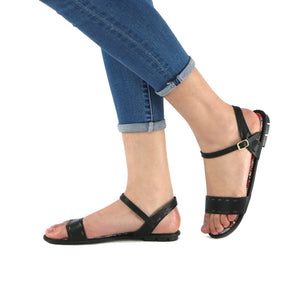 Black Sandals for Women (425.035) - SIMPLY SHOES HONG KONG