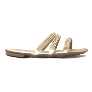 Gold Sandals for Women (425.071) - SIMPLY SHOES HONG KONG