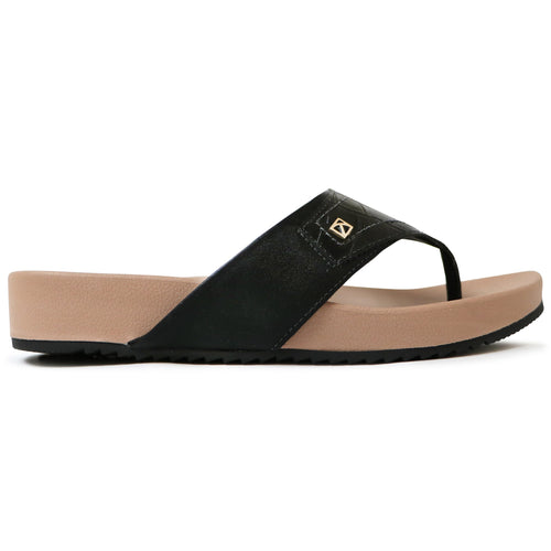 Black Croco Sandals for Women (460.056) - SIMPLY SHOES HONG KONG