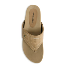 Taupe Croco Sandals for Women (460.056) - SIMPLY SHOES HONG KONG