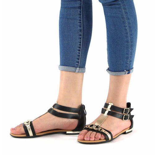 Gold Sandals for Women (510.041) - SIMPLY SHOES HONG KONG