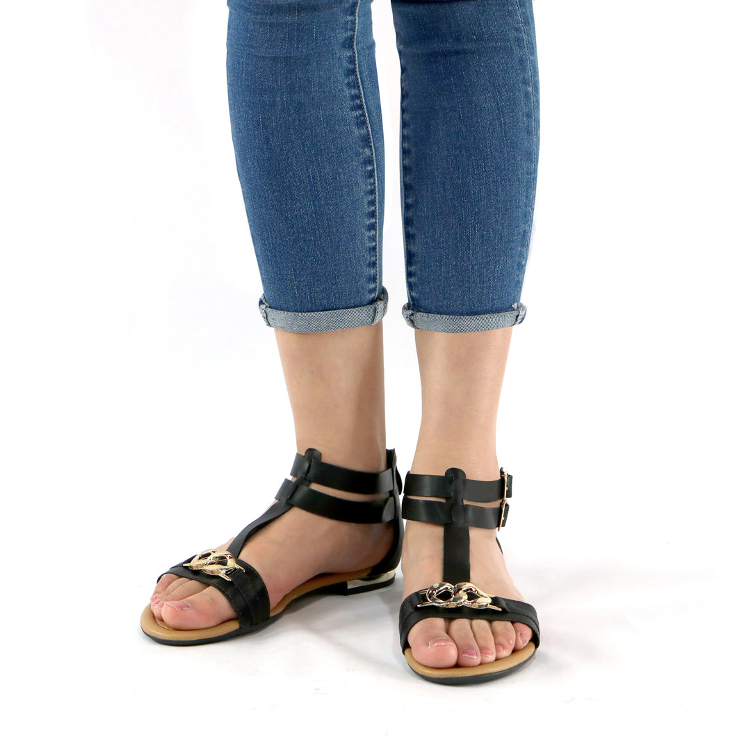 Black Sandals for Women (510.041) - SIMPLY SHOES HONG KONG
