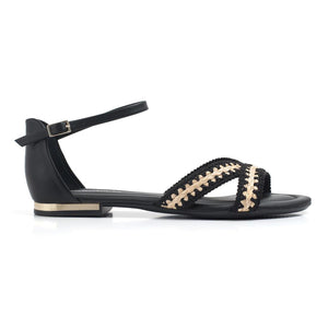 Black Sandals for Women (510.050) - SIMPLY SHOES HONG KONG
