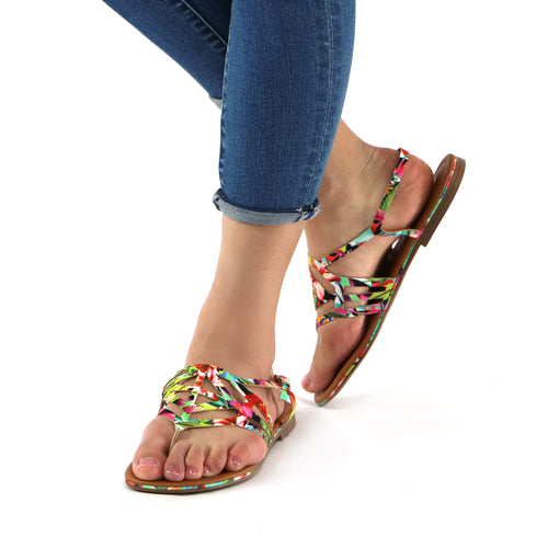 Flower Flat sandal for Women (533.001)