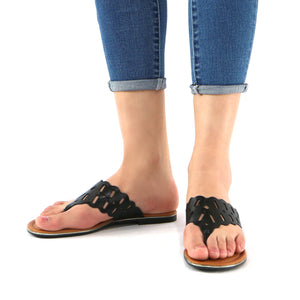 Black Flat sandal for Womens (533.002)